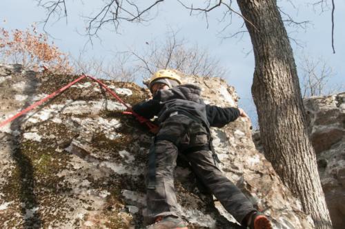 Rock Climbing Black Mountain - Nov 2014